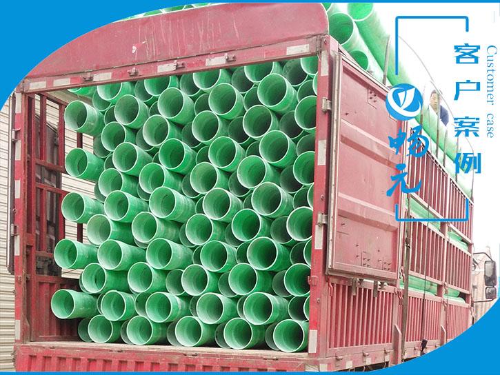 甘肃中铁十四局200-5玻璃钢电缆管发货