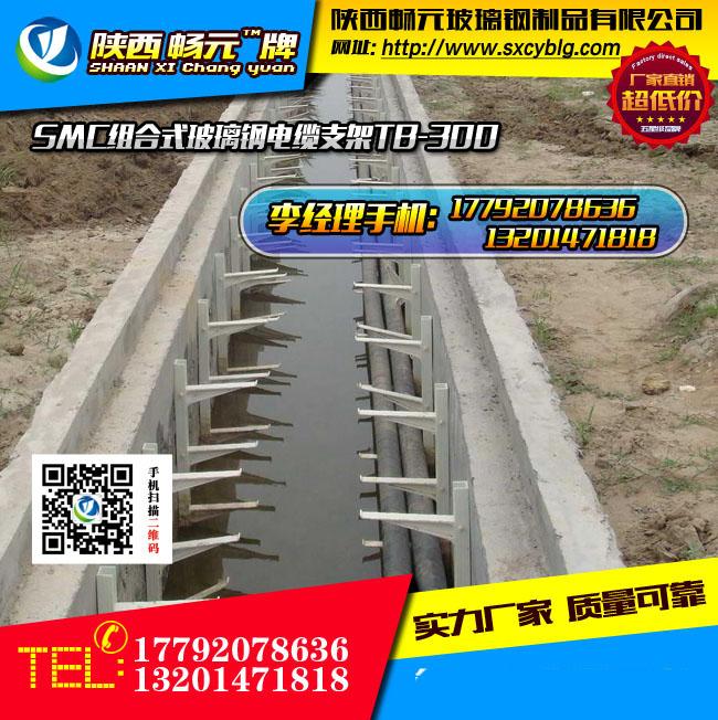 组合式玻璃钢电缆支架TB-300-4工地施工图.jpg